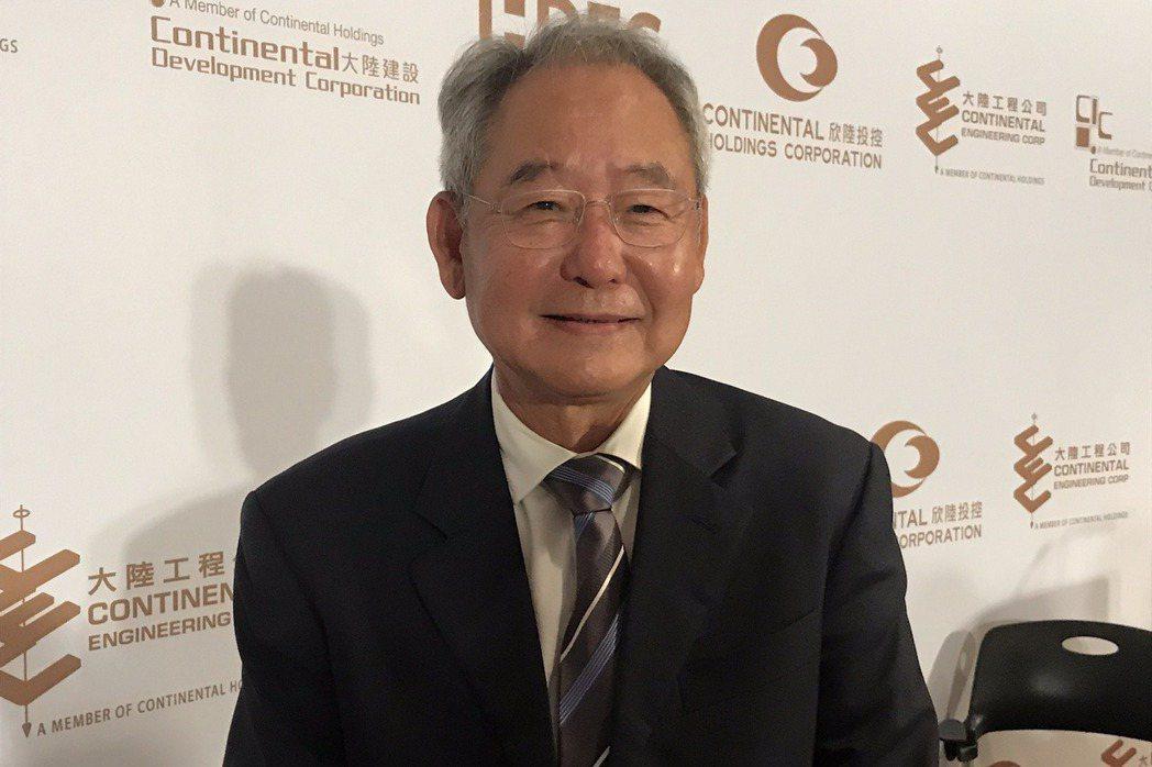 大陸建設董事長張良吉。記者游智文/攝影