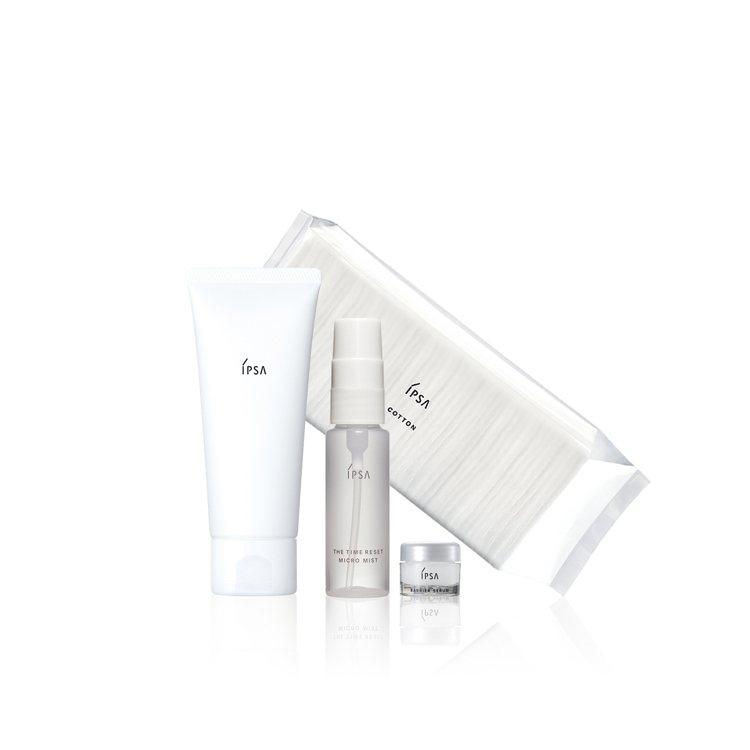 IPSA夏日淨透組:買泥狀角質按摩霜正品,送化妝棉50入+美膚保濕噴霧30ml+...