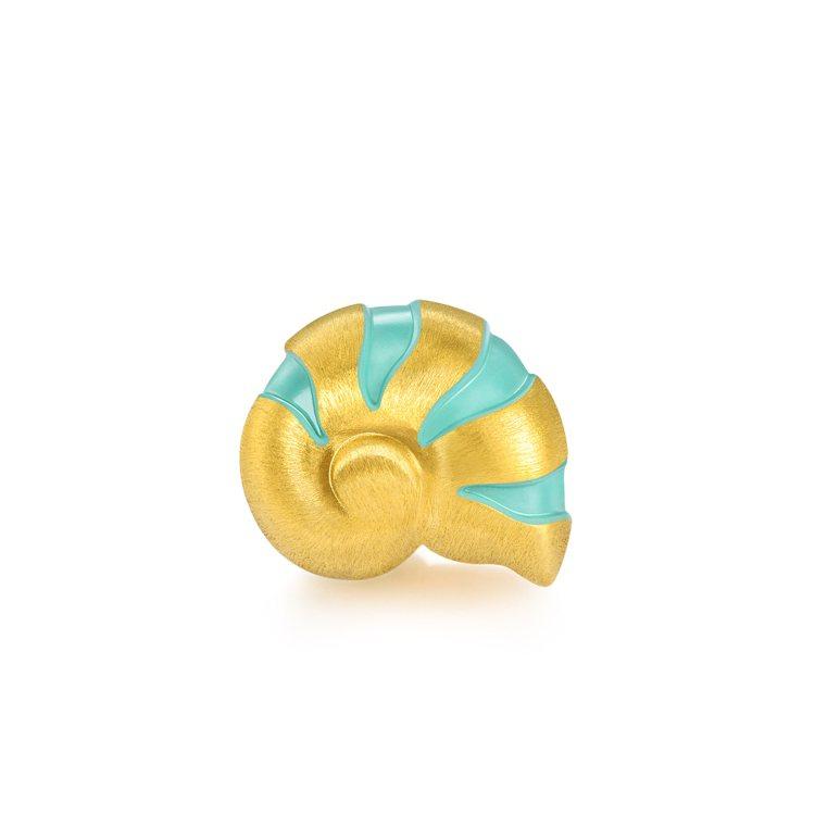 點睛品Charme「可愛系列」足金鸚鵡螺串飾,7,400元(不含配繩)。圖/點睛...