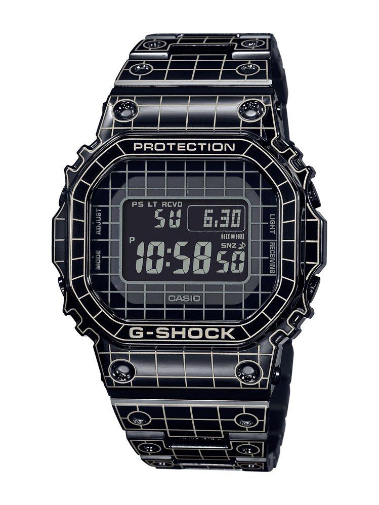 G-Shock GMW-B5000CS腕表,黑色離子IP電鍍不鏽鋼表殼、表鍊,台...