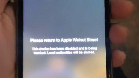 蘋果官方祭出展示品防搶防偷的防禦機制,網路傳出照片,如果打開搶來的iPhone,...