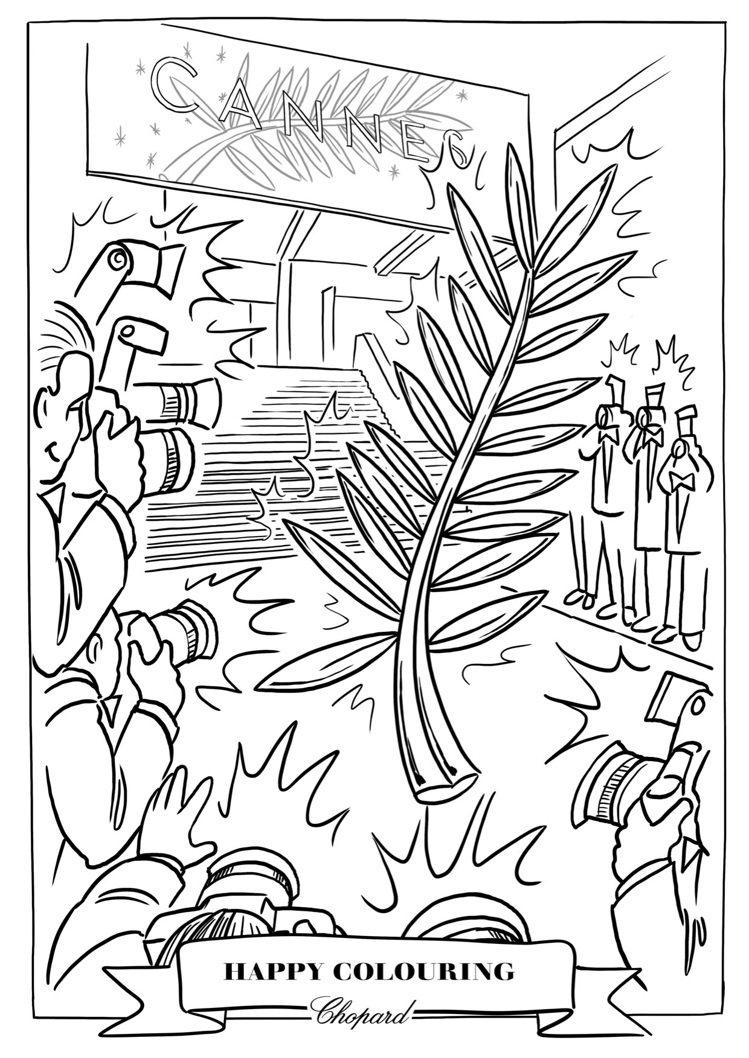 蕭邦自1998年以來一直擔任坎城電影節的官方合作夥伴,也提供棕櫚葉圖案作為著色素...