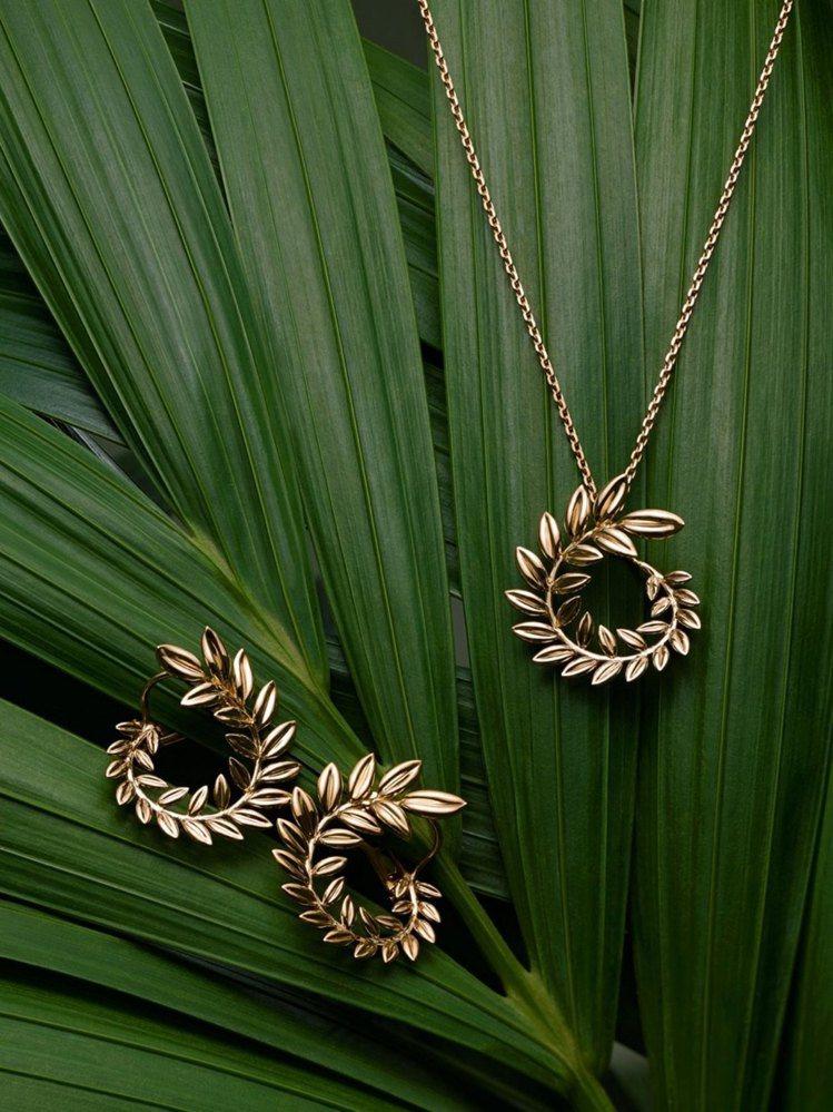 蕭邦Palme Verte系列18K公平採礦認證黃金耳環與Palme Verte...