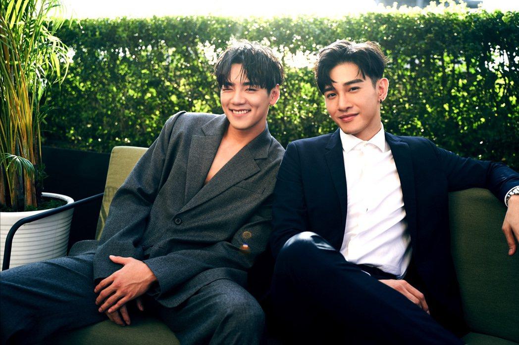 禾浩辰(左)和張立昂都在台中拍戲,兩人常相約一起運動健身、吃飯。圖/三立提供