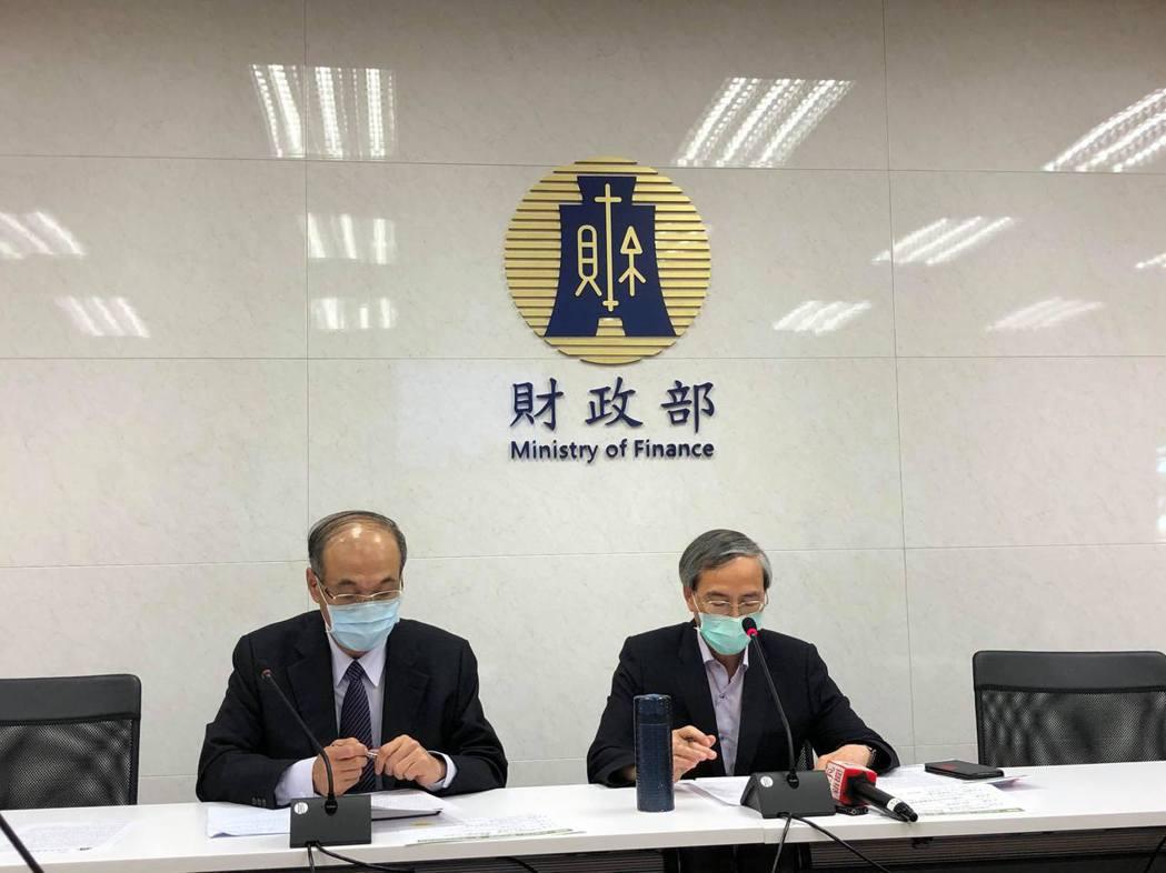 財政部3日特別召開記者會說明,以台灣Pay使用振興券,消費3,000元政府提供2...