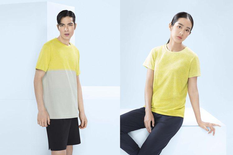 代言人身上穿的DRY-EX短褲、圓領T恤都是「感謝U你」特惠活動的品項之一。圖/...
