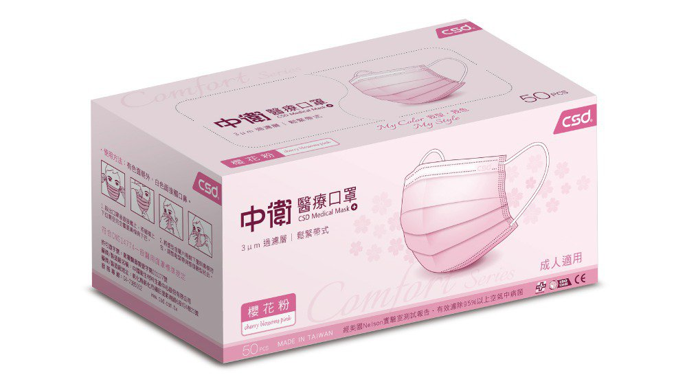 PChome 24h購物今天(6月3日)下午開賣超過萬片的中衛口罩,櫻花粉色最熱...