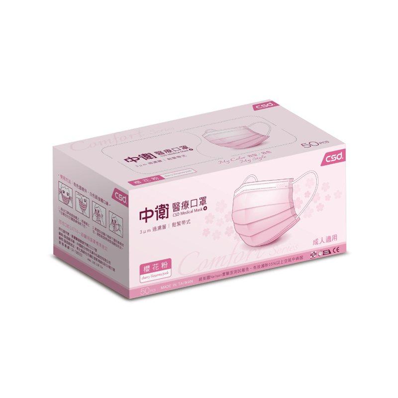 PChome 24h購物今天(6月3日)下午開賣超過萬片的中衛口罩,櫻花粉色最熱賣。圖/PChome 24h購物提供
