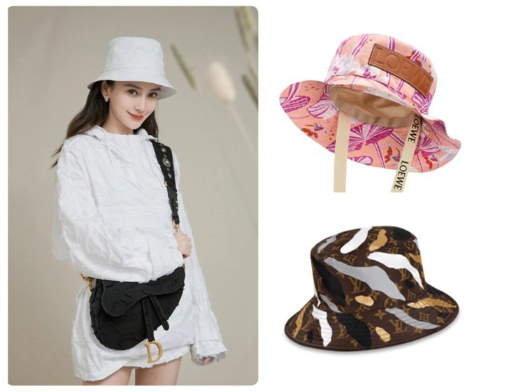 Angelababy詮釋DIOR 2020春夏迷彩系列漁夫帽,包括LOEWE和L...