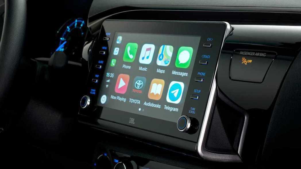 New Toyota Hilux搭上八吋中控螢幕。 摘自Toyota