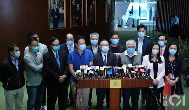 建制派強烈譴責朱凱迪、陳志全的行為。圖/記者梁鵬威攝