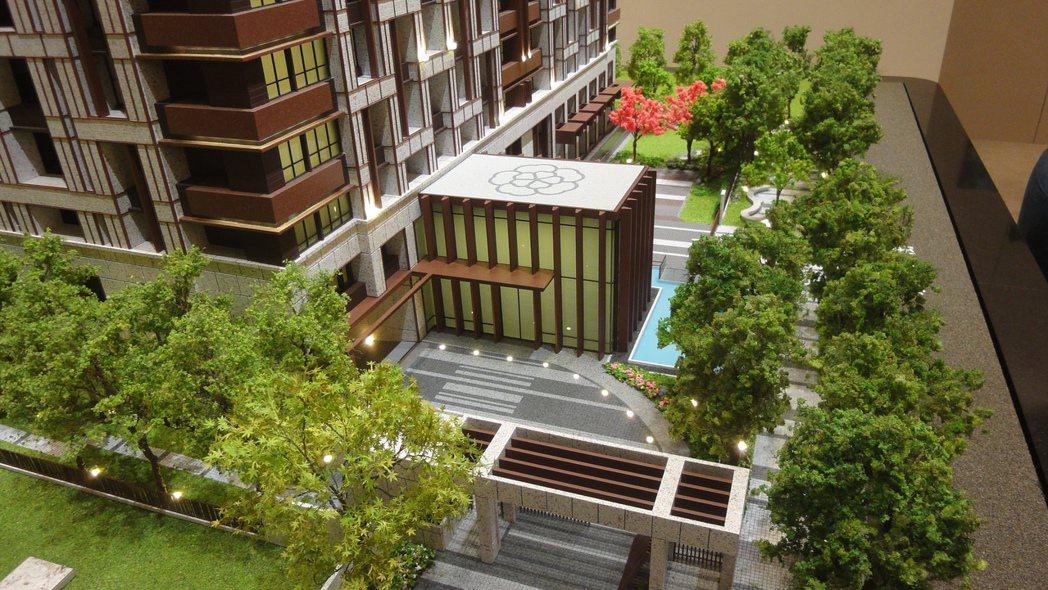 「富都新庄」擁有35%超低建蔽率英式水景花園及多項實用的頂級公設。圖/倪子仁提供