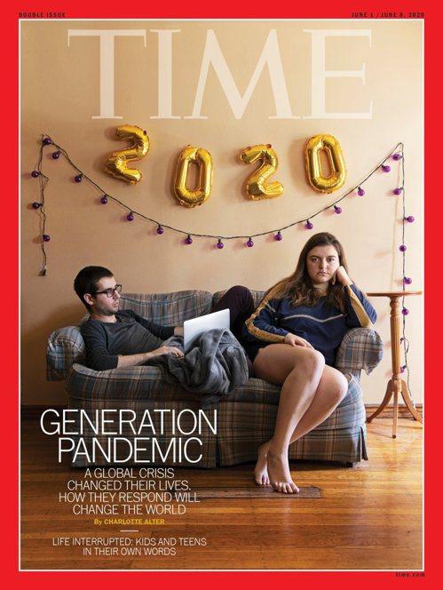 時代雜誌封面也以2020的「新冠世代」為主題。(圖片來源:《時代雜誌》官網)