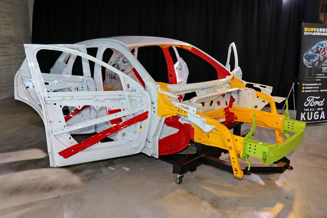 高剛性車體結構已經是Kuga的最佳保證。 記者陳威任/攝影