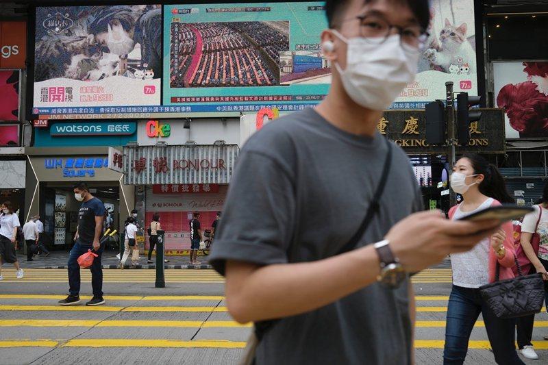 北京認為《聯合聲明》在1997年便已執行領土主權的變動完畢,因此成為「歷史文件」。圖攝於5月28日,香港。 圖/路透社