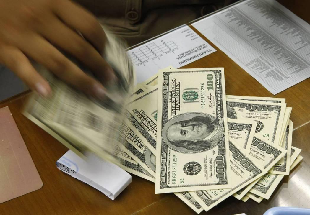 美元示意圖。 (路透)