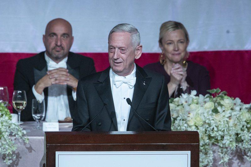 美國前國防部長馬提斯。美聯社