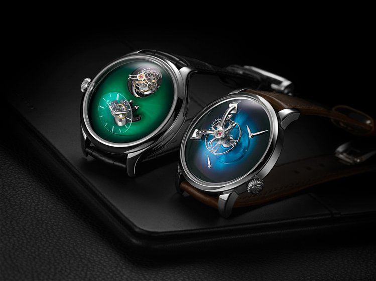 兩款腕表各自融合MB&F與H.Moser & Cie的機芯專長與形式之美,是相當...