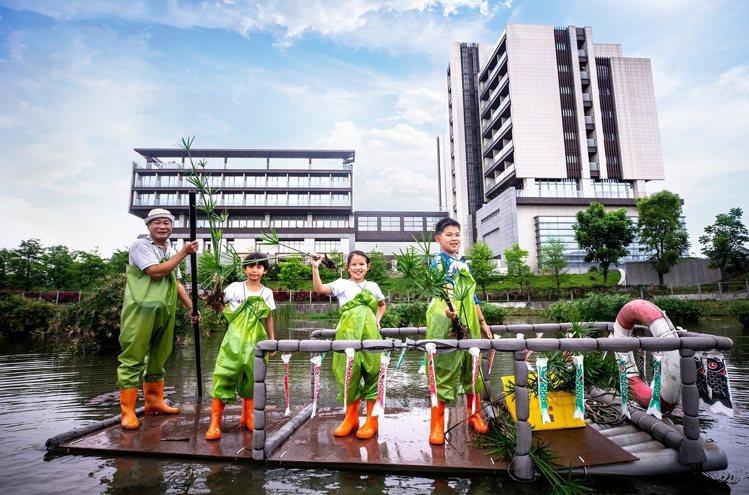 綠舞日式主題園區6月6日起推出「輪傘莎草」種植體驗活動。圖/綠舞提供