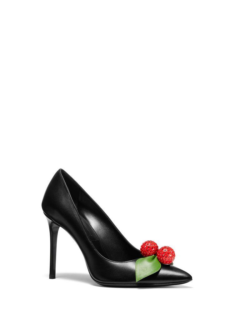 MICHAEL KORS立體櫻桃裝飾高跟鞋,價格店洽。圖/MICHAEL KOR...
