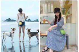 夏日女孩漫遊記 陳庭妮背鳳梨包衝海邊遛毛小孩 曾之喬躲雨也很美