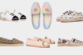 小碎花or粉彩款 香奈兒、GUCCI等精品草編鞋都幫你整理好了!
