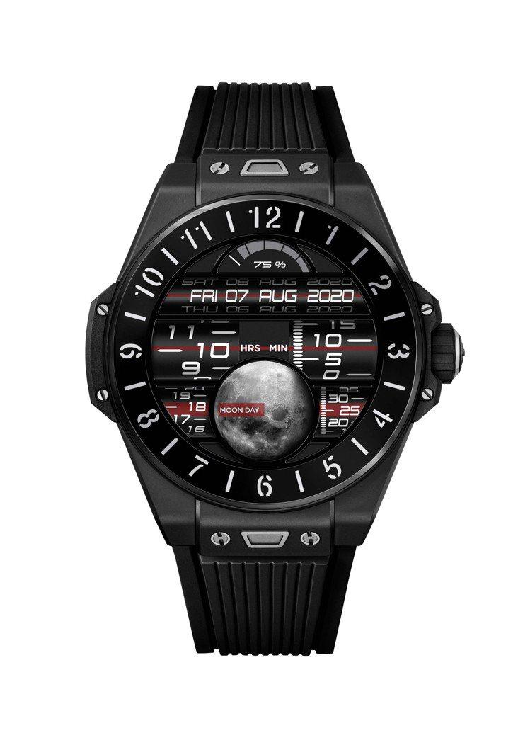 BIG BANG e智能腕表42毫米黑色陶瓷款,18萬元。圖/宇舶表提供