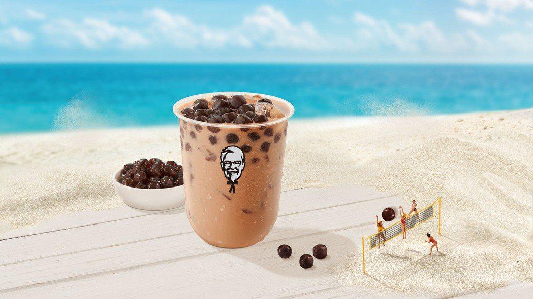 肯德基今(4)日宣布將推出「ㄎㄎ珍珠奶茶」,加入珍珠奶茶大戰。 圖/肯德基提供