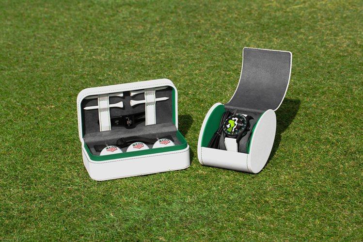 泰格豪雅Connected高爾夫球特別版智能表,提供了球座、整草器、高爾夫球,除...