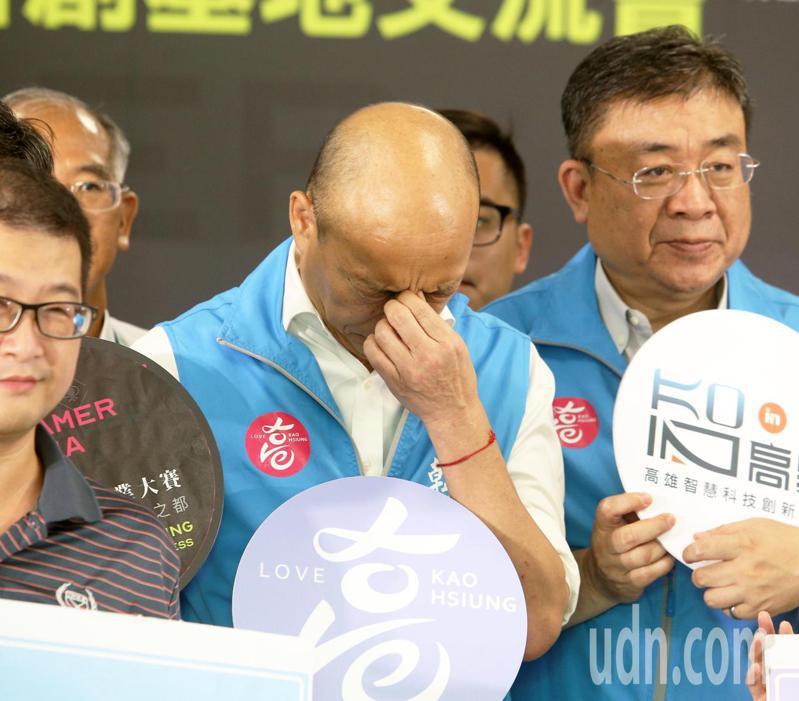 高雄市長韓國瑜昨午參加活動,身體疑略顯疲憊,圖/本報資料照片
