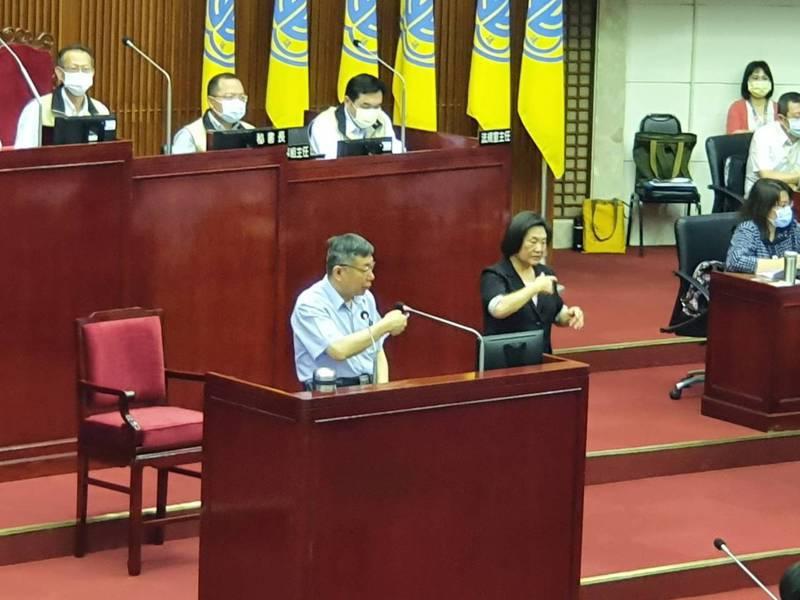 柯文哲下午在市政總質詢。記者楊正海/攝影