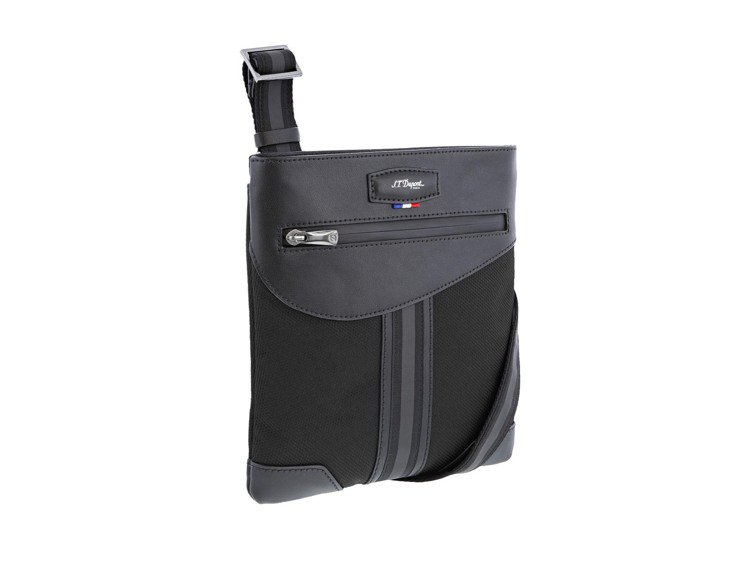 S.T. Dupont DÉFI MILLÉNIUM黑色小型拉鍊扁側背包,9,2...