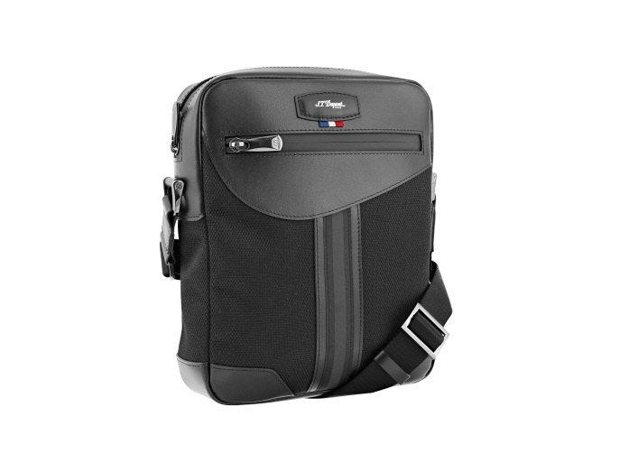 S.T. Dupont DÉFI MILLÉNIUM黑色小型拉鍊側背包,10,7...