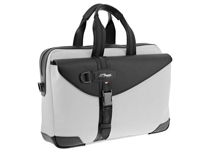 S.T. Dupont DÉFI MILLÉNIUM黑白雙色大型手提包,18,1...