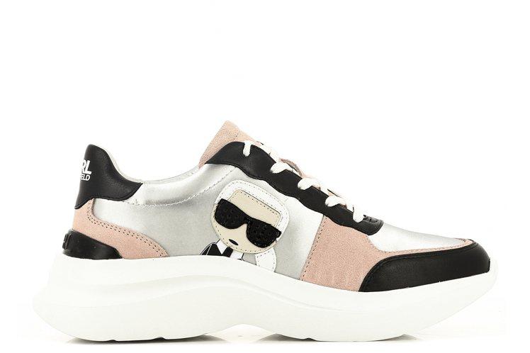 KARL LAGERFELD黑粉色運動鞋,8,980元。圖/Weng Colle...