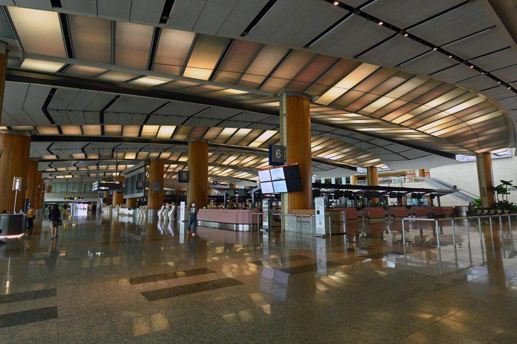 新加坡樟宜機場。法新社