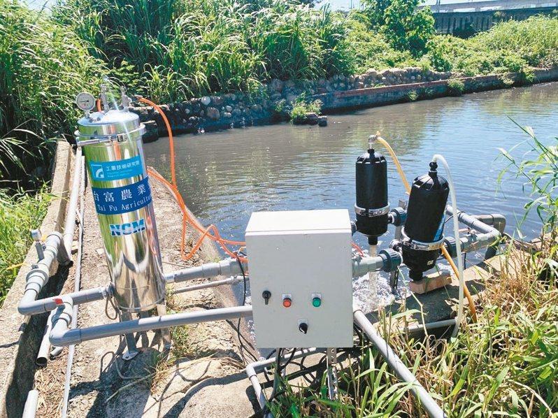 湖口鄉佳佳牧場安裝超濾膜組進行廢水回收再利用場域驗證。記者陳斯穎/攝影