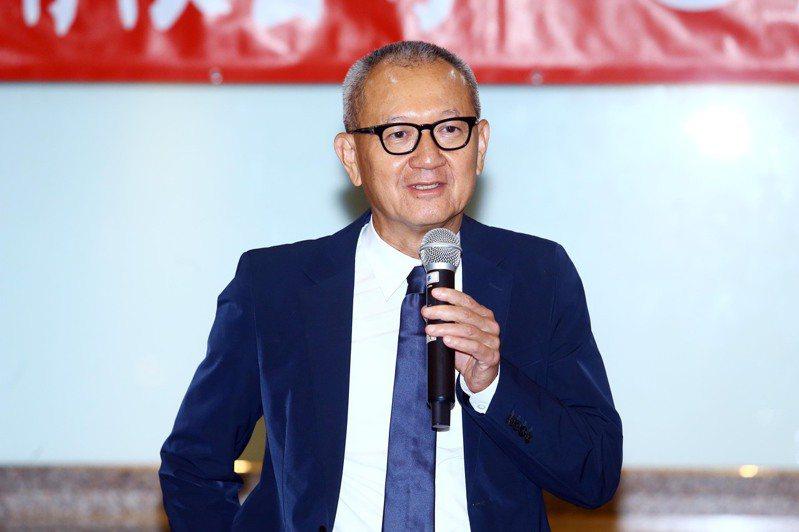 國巨董事長陳泰銘上午出席股東會。記者杜建重/攝影