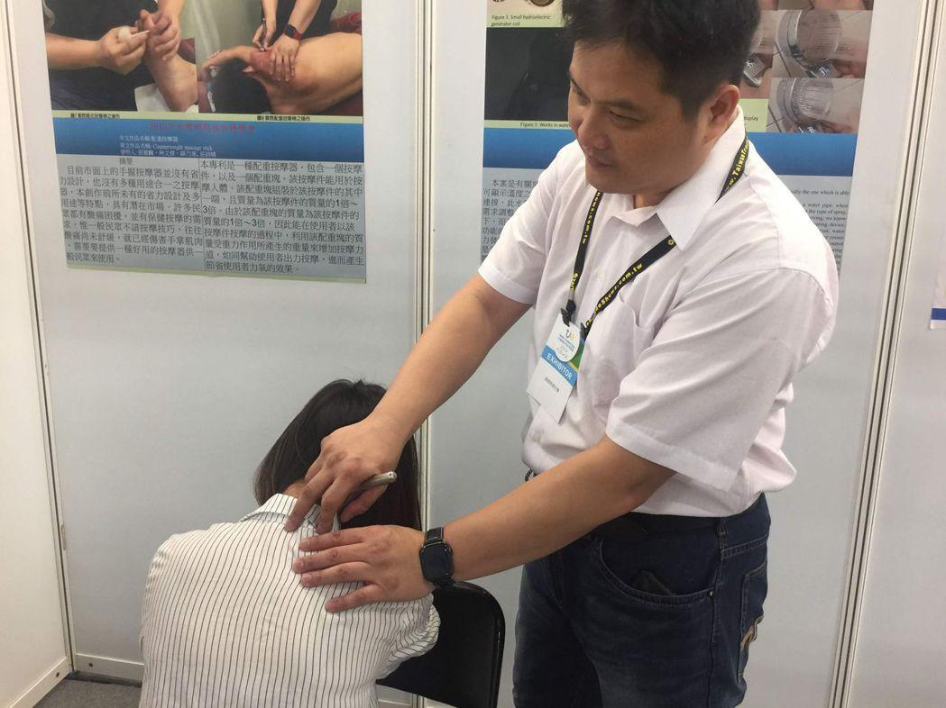 高苑科大薛乃源同學積極參加各種國際發明展。 高苑科大/提供