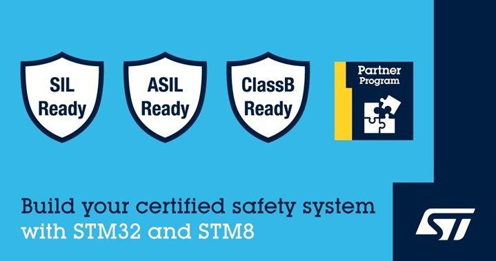 意法半導體新推出STM32及STM8認證套裝軟體,讓裝置達到功能安全標準。 ...