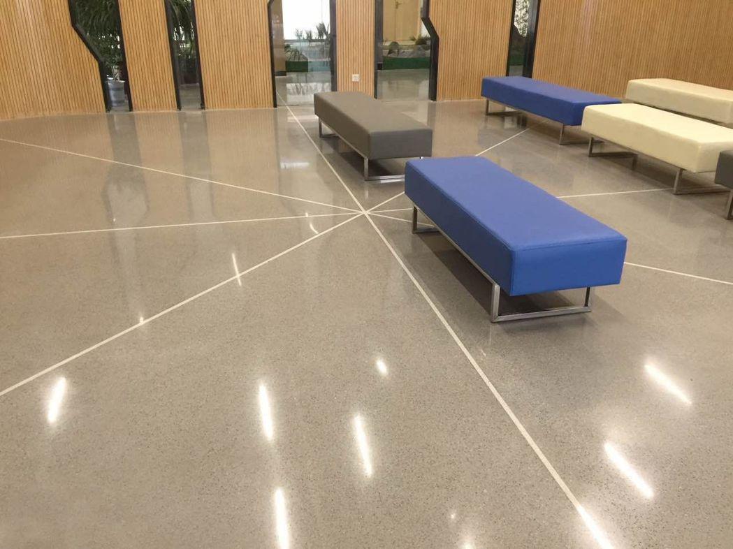 展熤鋰晶地坪具美觀,耐磨,藝術等特性在業界占有一席之地 展熤公司/提供