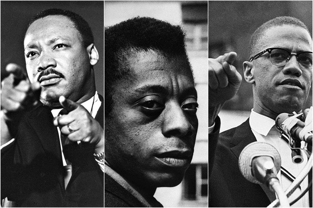 由左至右:金恩博士、鮑德溫、馬爾坎X。抗爭運種衍生的暴動與犯罪不能被美化,但理解...