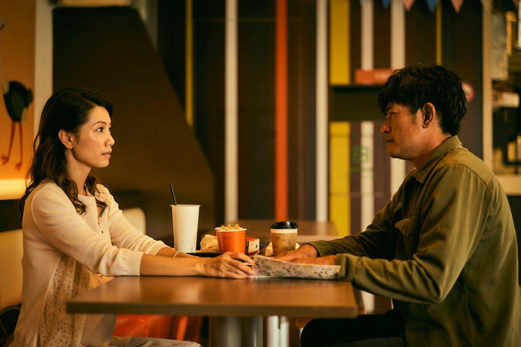 柯叔元在「做工的人」面對戲中前女友林韋君,情緒複雜。圖/大慕影藝提供