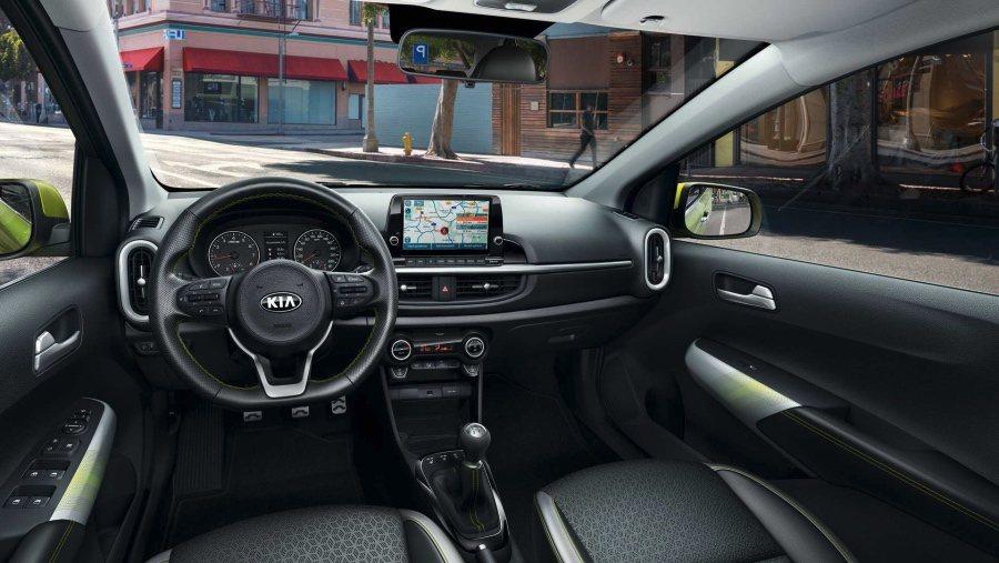 小改款歐規Kia Picanto X-Line 內裝。 Kia提供