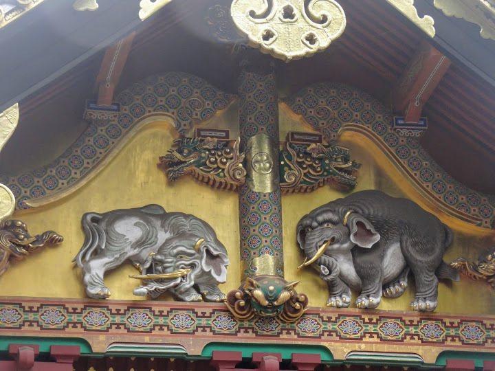 江戶時代藝術家狩野探幽作品「想像の象」