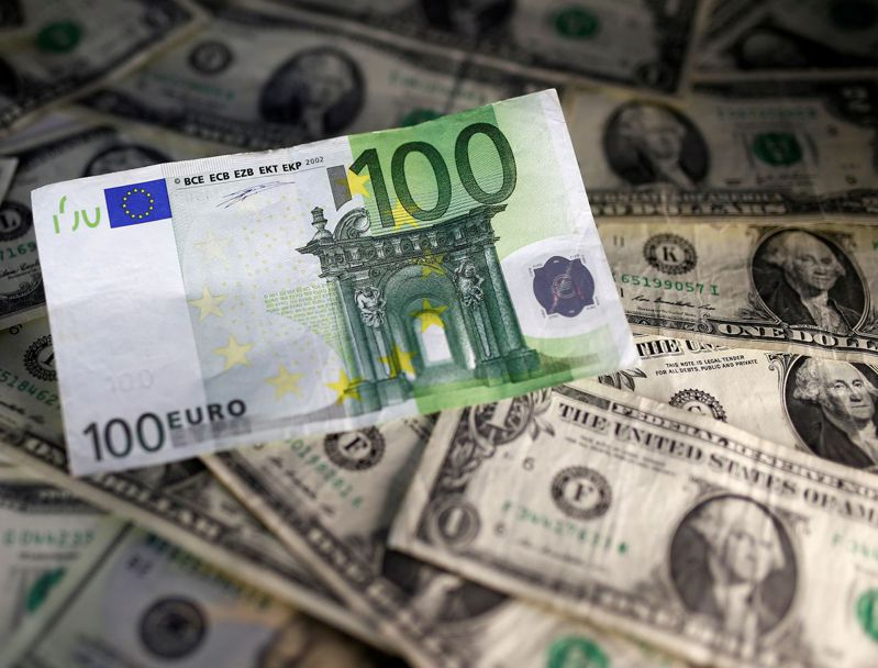 歐元連八天升值。(圖/路透)