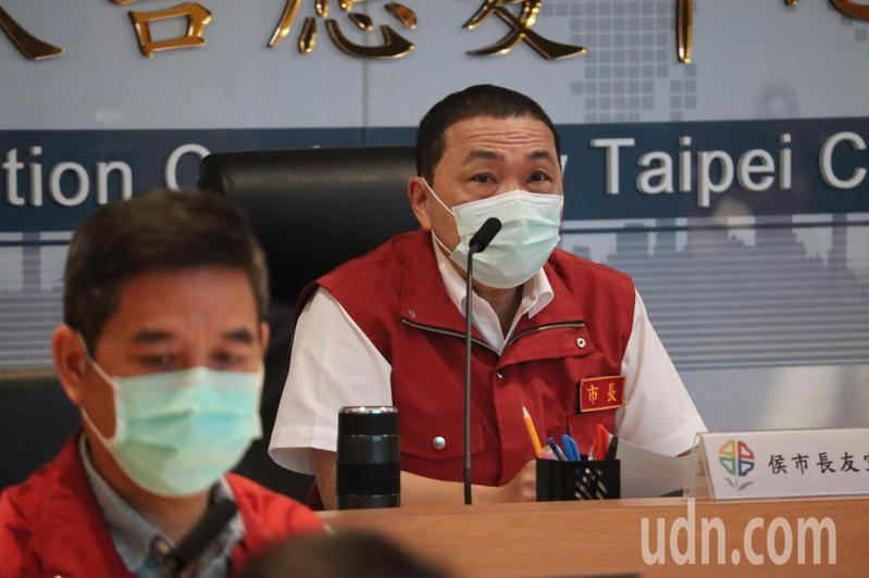 新北市長侯友宜今早召開防疫會議。記者魏翊庭/攝影