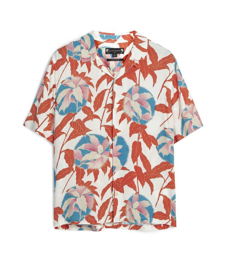 AllSaints Vine紅葉印花襯衫4,800元。圖/AllSaints提供