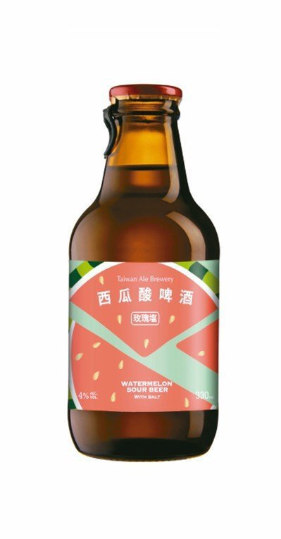 西瓜酸啤酒。圖/摘自台灣艾爾官網 【未成年請勿飲酒,酒後不開車】