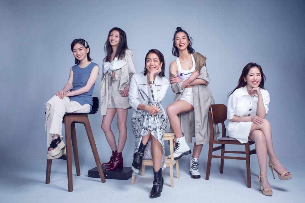 2020非常新人左起:詹宛儒、陳姸霏、李霈瑜、王渝屏、蔡瑞雪。圖/台北電影節提供
